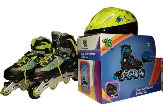 Rollers Con Casco Ajustable Discovery Kids Talle 34-37 Y3323