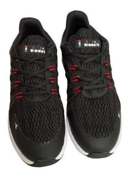 Tenis Masculino Diadora Level Co123 Black - Red