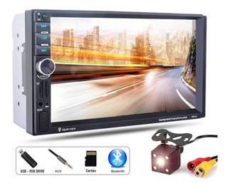 Multimídia Mp5 Lcd Bluetooth C/ Espelhamento + Câmera De Ré Full Hd - A Pronta Entrega!