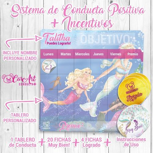 Tabla Imantada De Conducta Positiva+ Para Niños Y Niñas