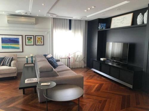 Imagem 1 de 30 de Apartamento À Venda No Vetrino Brooklin, Rua Professor José Leite E Oiticica 237.são 165m², 3 Quartos (2 Suites), Terraço Com Churrasqueira E 3 Vagas, - Ap5375