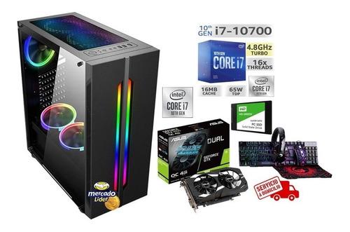Cpu Gamer Intel Core I7 10ma/1tb+ssd 240gb 8gb Gtx1650 4gb