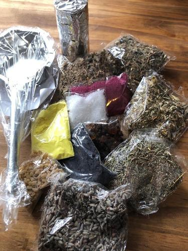Hierbas Para Sahumos Combo Completo + Sahumador