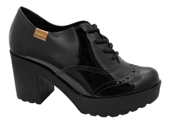 Sapato Casual Moleca Verniz 5647.107.13488 - Preto