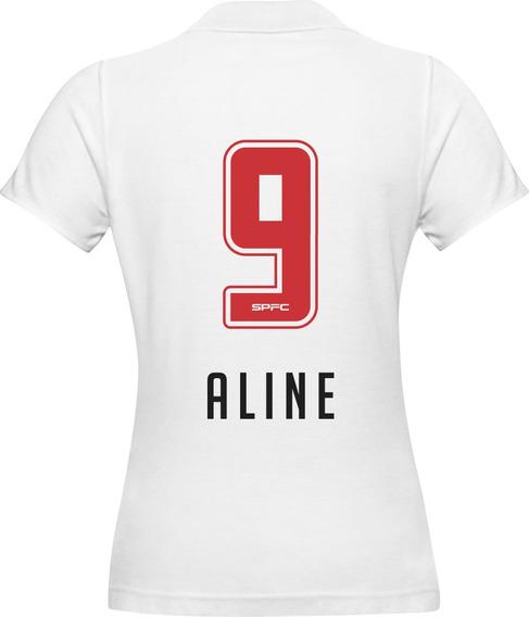 Camisa Polo São Paulo Feminina Aline