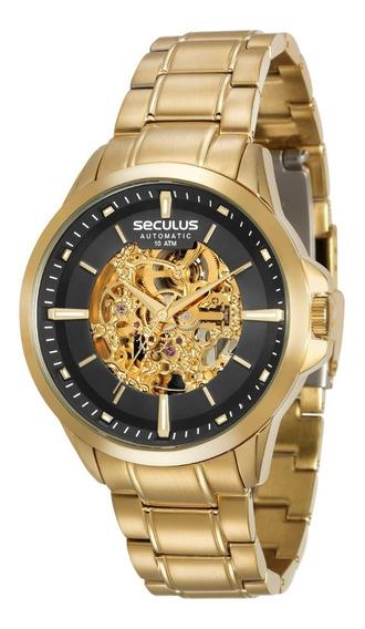 Relógio Seculus Masculino Automatico 20552gpsvda1 100 Metros