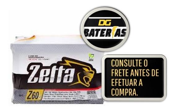 Bateria De Carro Zetta 60ah 12m Garantia Gm,ford,fiat,volks