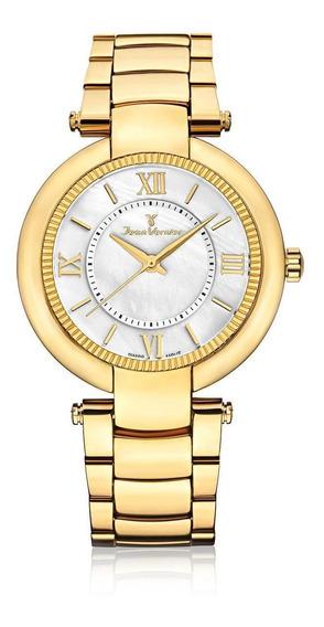 Relógio Pulso Jean Vernier Aço Masculino Jv01144