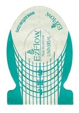 500 Moldes Universales Ezflow Uñas Esculpidas Acrilico Gel