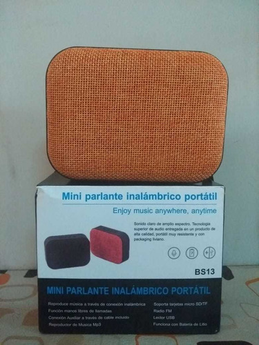 Parlantes Bluetooth 5w. Varios Modelos.