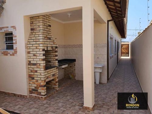 Casa Com 2 Dormitórios À Venda, 58 M² Por R$ 290.000,00 - Tupy - Itanhaém/sp - Ca1376