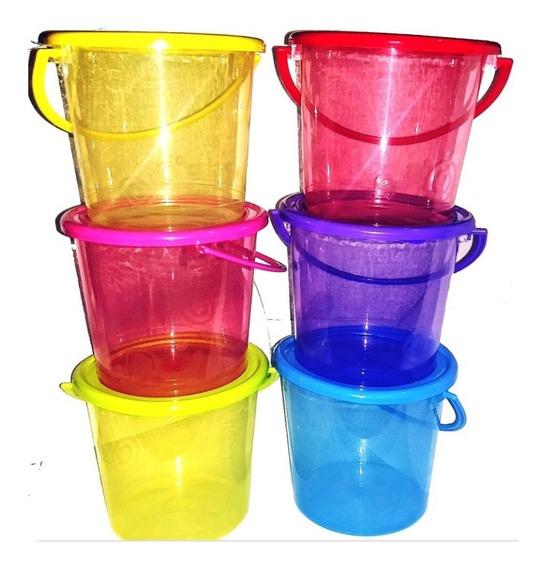 45 Cubetas De Plastico, Colores Fiesta, Dulcero, Recuerdo