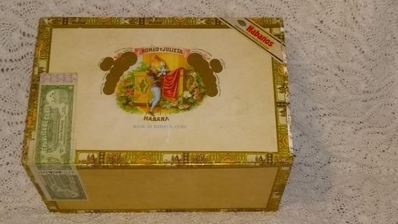 Caja Vacía Madera De Habanos Publicidad Usada