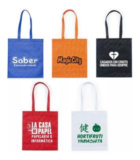 100 Bolsas Ecológicas Personalizadas Com Sua Logomarca