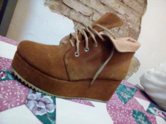 Zapatos Borcegos Zapatilla Con Plataforma