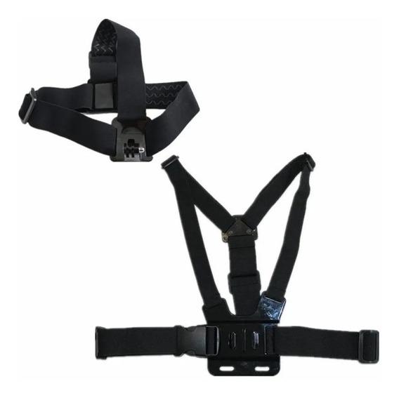 Suporte De Peito Cabeça Peitoral Para Camera Gopro 5 Go Pro