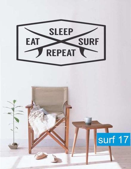 Vinilo Decorativo Surf Mar Playa Olas Surfer Decoración