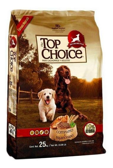 Alimento Top Choice perro todos los tamaños 25kg