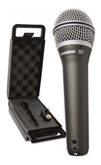 Microfone Samson Profissional Q7 Dinâmico Super Cardióide