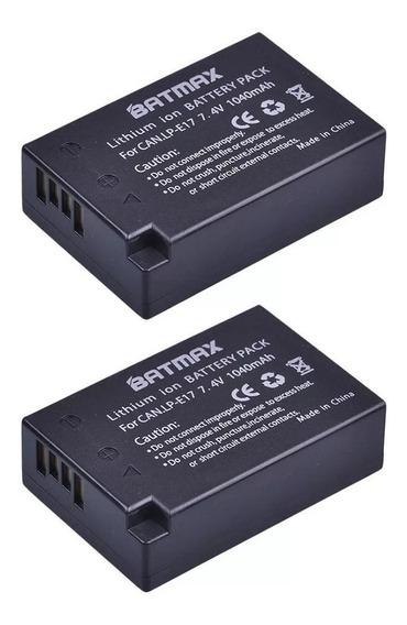 Kit 2 Baterias Lp-e17 P/ Canon T6i T6s + 1 Carregador Grátis