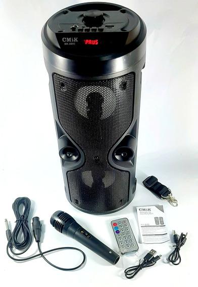 Caixa Som Mp3 Bluetooth Rádio Recarregável Controle Remoto