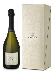 Estuche Champagne El Esteco Brut Nature X750cc