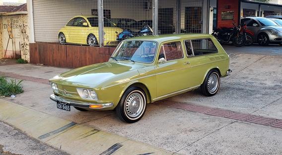 Vw - Volkswagen - Variant 1600 1972 Placa Preta Leia O Anun