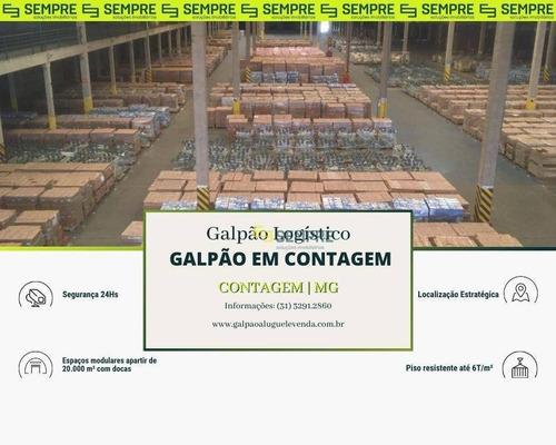 Imagem 1 de 21 de Galpão Para Alugar, 20000 M² Por R$ 280.020,01/mês - Cincão - Contagem/mg - Ga1410