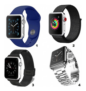 Correas Apple Watch Silicona 38 40 42 44 Mm Series 1 2 3 4