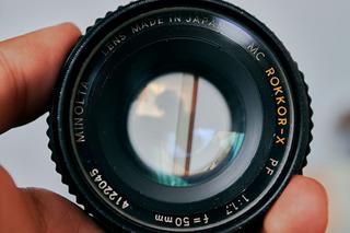 Lente Analogico Adaptado A Nikon Vintage Minolta 50mm F1.7