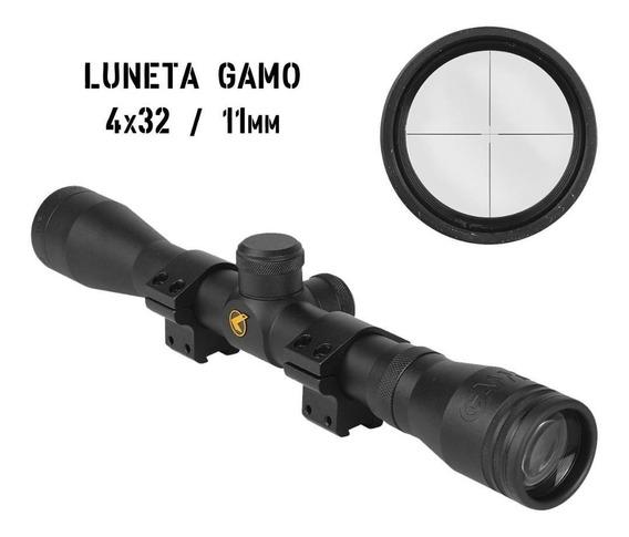 Luneta Mira 4x32 Wr Gamo 11mm Carabina Pressão Sniper Arsoft