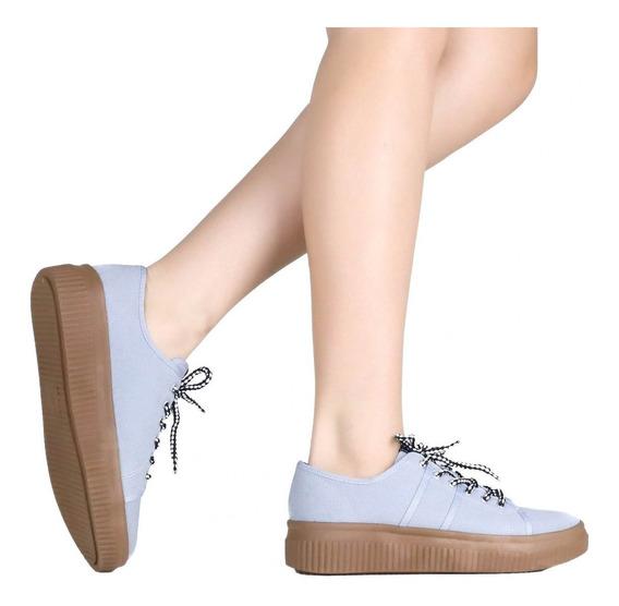 Tênis Zariff Shoes Flatform Lona Azul 811012168