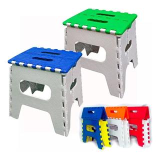 Banquito Banco Plastico Plegable Reforzado Vs Colores 100 Kg