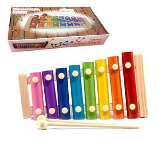 Xilófon Instrumento Infantil De 7 Notas Con Teclas Metálicas