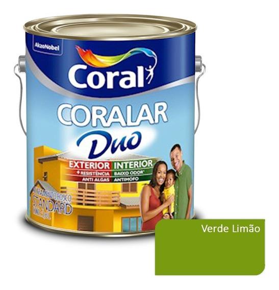 Tinta Parede Externa Coralar Duo Coral - Verde Limão 3,6lts