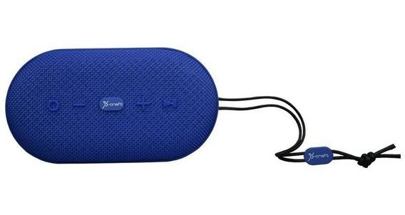 Caixa De Som Bluetooth X-craft X7 Azul 10w À Prova De Àgua