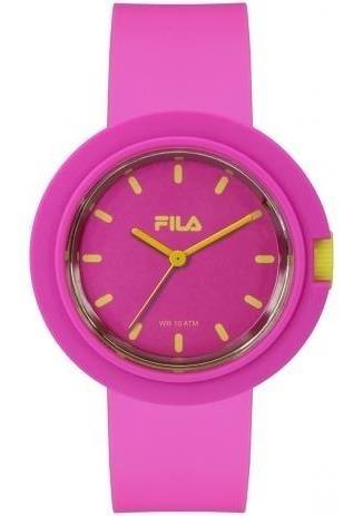 Relógio Fila Rosa Analogico Pink C Amarelo - 38-109-003 Sale