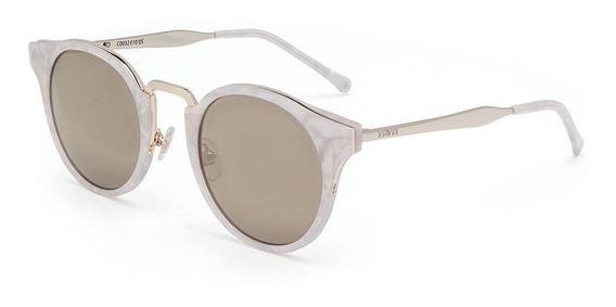 Óculos Sol Colcci C0032 Dourado Brilho/l Marrom Com Nf