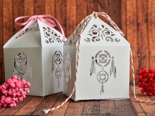 10 Cajitas Caladas Atrapasueños Souvenirs Cumpleaños