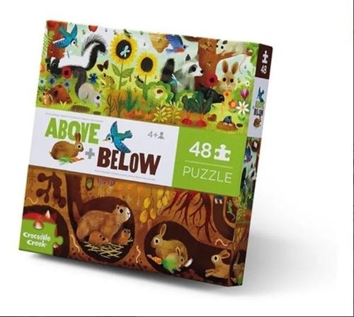 Imagen 1 de 2 de Puzzle Rompecabezas 48 Piezas Animales Arriba/abajo Edu Full
