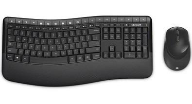 Teclado E Mouse Wireless Comfort Desktop 5050 Preto