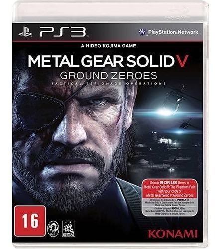 Metal Gear Solid V Ground Zeroes - Ps3 Mídia Física