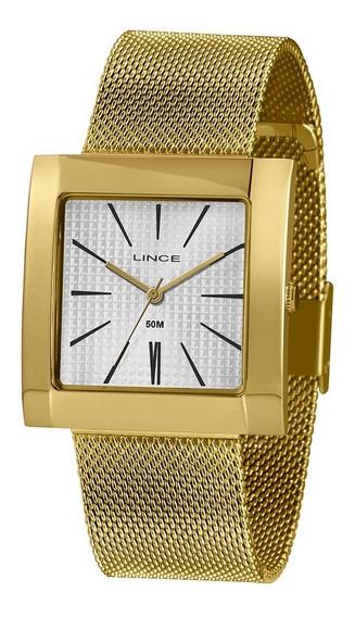 Relógio Lince Quadrado Feminino Lqg4654l + Garantia + Nfe