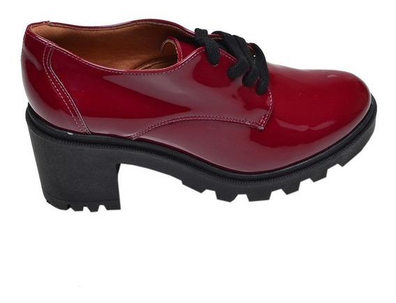 Sapato Feminino Tratorado Bebecê Bordô
