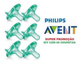 Chupeta Calm Soothie Philips Avent 0-3m Bico Anti Colic 6un