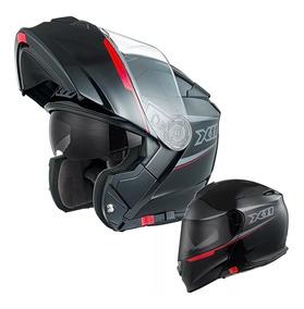 Capacete X11 Turner Escamoteavel Preto 58 60 62 64 Robocop