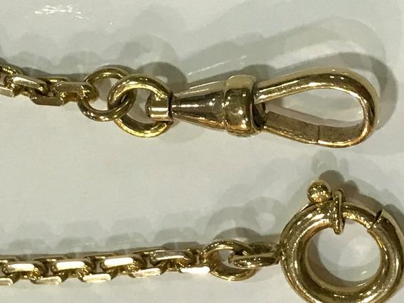 Corrente Ouro 18k P/ Relogio P/bolso ,peso: 15.3g-39cm.x3mm.