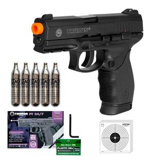Pistola Airsoft Taurus 24/7 Co2 Slide Metal 6mm 5 Co2 394fps