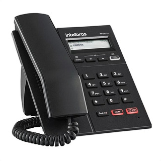 Telefone Intelbras Ip Tip 125i Display Viva-voz Preto Nf