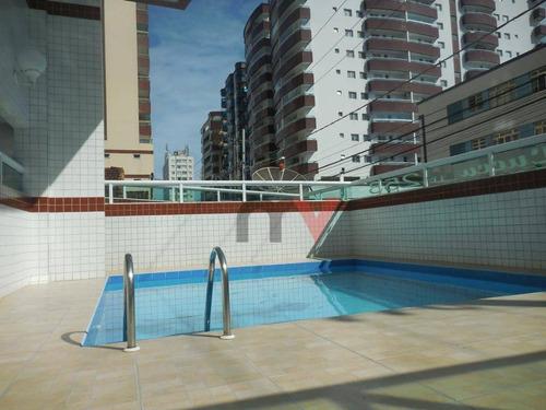 Apartamento À Venda, 96 M² Por R$ 390.000,00 - Ocian - Praia Grande/sp - Ap0034